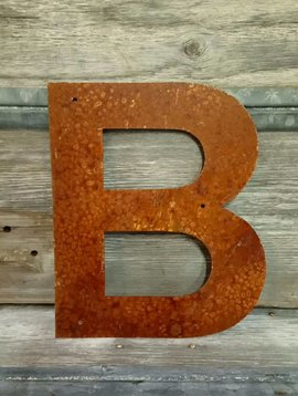 Rusted Metal Letter B 12""