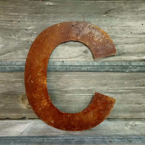 """Rusted Metal Letter C 18"""""""