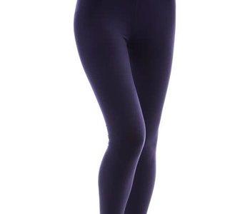 Solid Navy Yoga Band Legging