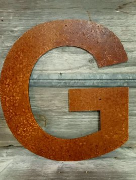 Rusted Metal Letter G 18""