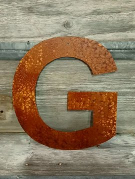 Rusted Metal Letter G 12""
