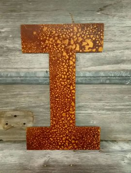 """Rusted Metal Letter I 18"""""""