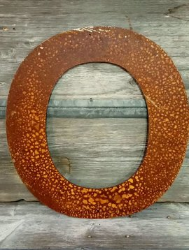 Rusted Metal Letter O 18""