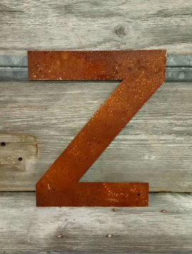 """Rusted Metal Letter Z 12"""""""