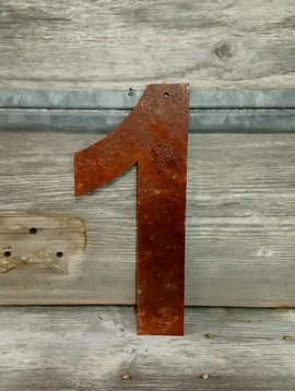 Rusted Metal Number 1 12""