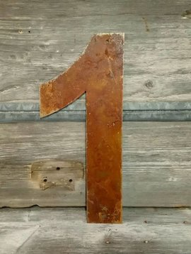 Rusted Metal Number 1 18""