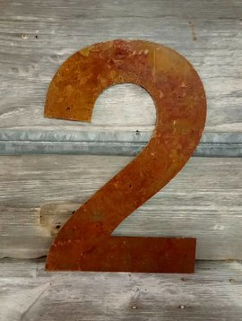 Rusted Metal Number 2 18""