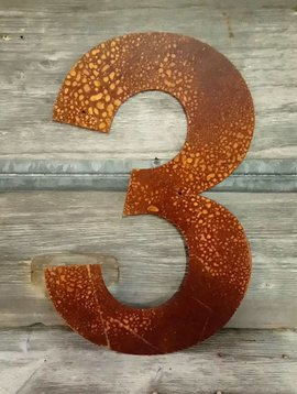 Rusted Metal Number 3 18""