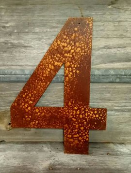 Rusted Metal Number 4 18""