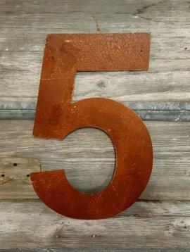 "Rusted Metal Number 5 12"""