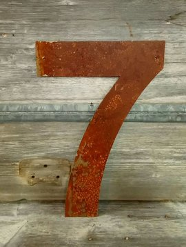 Rusted Metal Number 7 18""