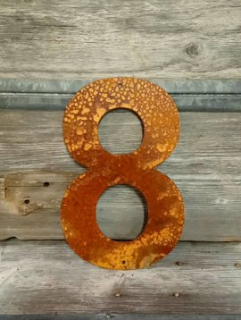 Cactus Creek Rusted Metal Number 8 12""