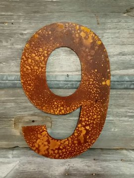 Rusted Metal Number 9 18""