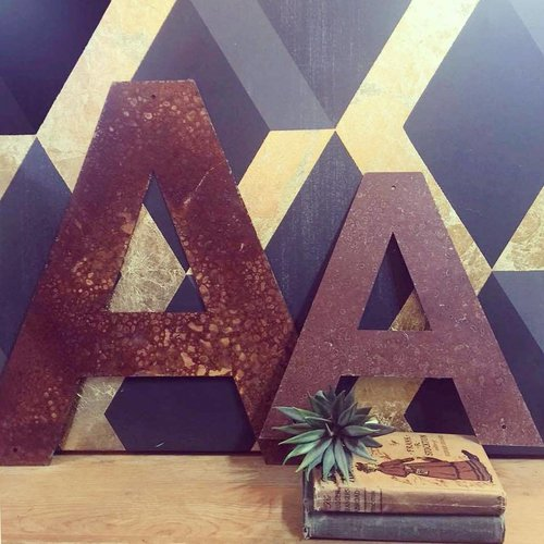 """Rusted Metal Letter A 12"""""""