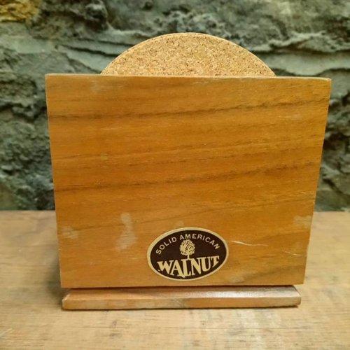 Carved Wooden Tree Coaster Holder
