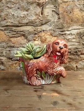 Vintage Ceramic Dog Planter
