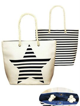 Stars & Stripes Tote Bag Blue