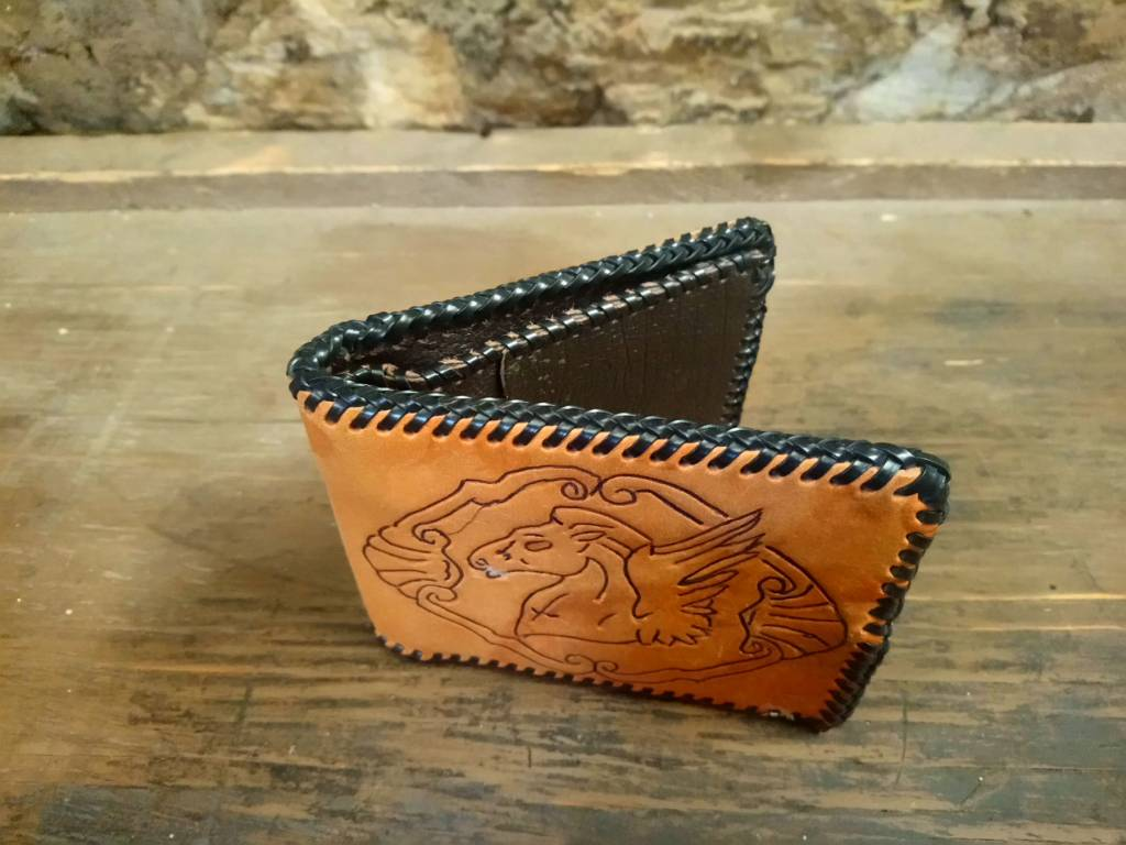 Tooled Leather Wallet