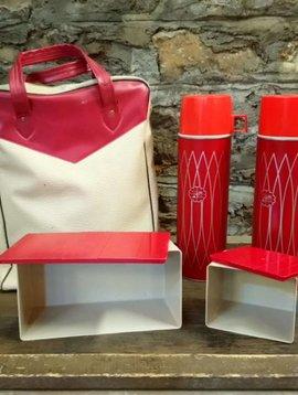 Vintage Thermos Picnic Bag