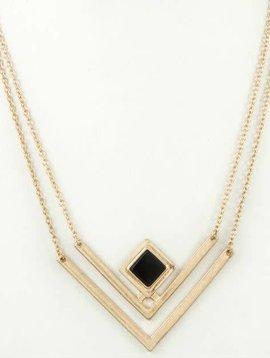 Golden Chevron Necklace