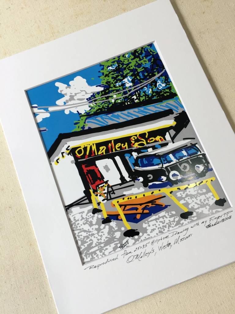 Weston Missouri O'Malley's Pub Cell Phone Print