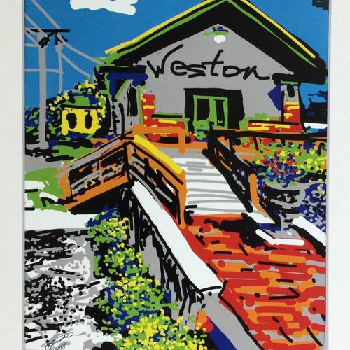 Weston Missouri Train Depot Cell Phone Print