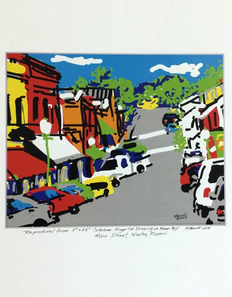 Main Street Weston MO Cell Phone Print