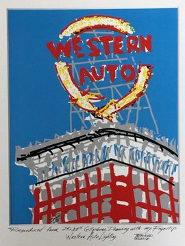 Western Auto Cell Phone Print