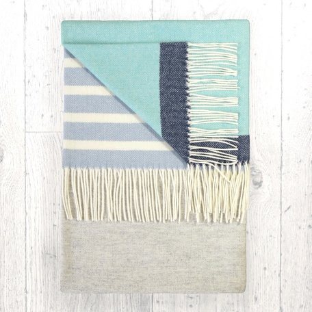 SALE!  Barncoose Pearl Grey Throw - Twig
