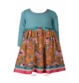 Bonnie Baby Teal and Pink Floral Dress