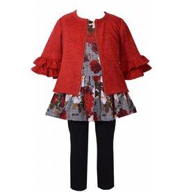 Bonnie Baby Red Floral 3 Piece Set