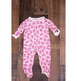 Sweet Bamboo Piped Girl Cowboy Footie
