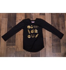 Haven Girl Black Halloween Emoji Shirt