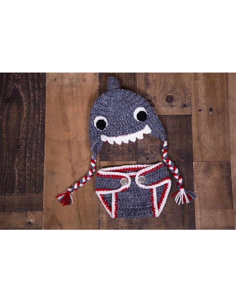 3a1aa7cdd37 Baby Shark Crochet Set - Peek-a-Bootique