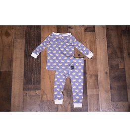 Sweet Bamboo Big Kid PJ 2 Piece Set with Crowns