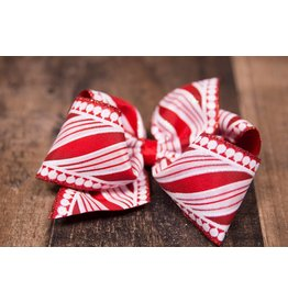 Wee Ones King Candy Cane Bow