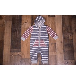 Me + Henry Hooded Stripe Romper