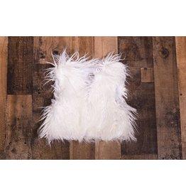 Sassy Me Magic Garden White Monogolian Fur Vest