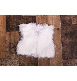 Sassy Me Merry Magic Luxury White Fur Vest