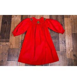 Mom & Me Red Corduroy Smocked Dress