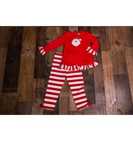 Three Sisters S12 Girls Santa Striped Tunic Set