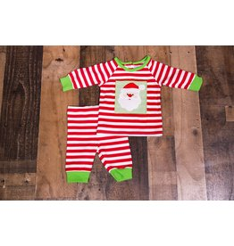 Three Sisters SB13 Red and Green Santa Striped Two Piece Set