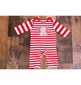 Three Sisters Striped Elephant Romper