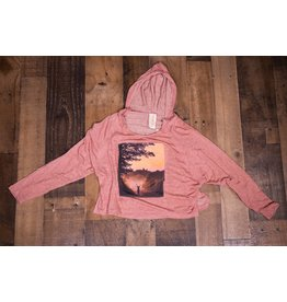 Tru Luv Mauve Deer Sunset Tunic