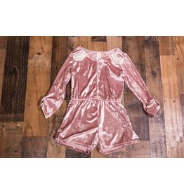 Little Mass Royal Crushed Velvet Romper
