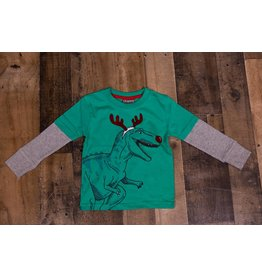 CR Sports T-rex Reindeer Shirt