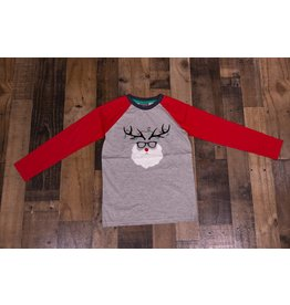CR Sports Reindeer Santa Clause Tee