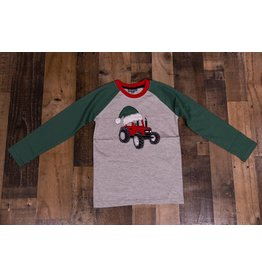 CR Sports Tractor With Santa Hat Shirt