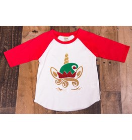 kavio Unicorn Elf Christmas Tee