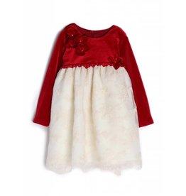Isobella & Chloe Red Velvet Dress